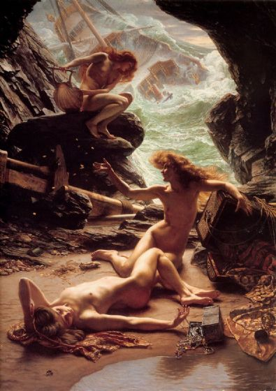 Poynter, Sir Edward John: The Cave of the Storm Nymphs. Fine Art Print/Poster. Sizes: A1/A2/A3/A4 (00130)